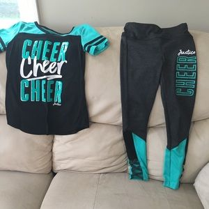 Justice Cheer T-Shirt and Spandex Pants